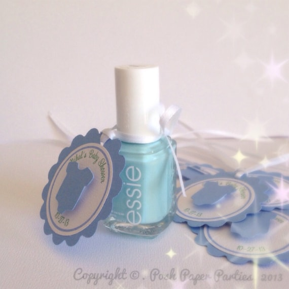 Wonderful Baby Shower Favor Tags For Nail Polish Itu0027s A Boy Baby