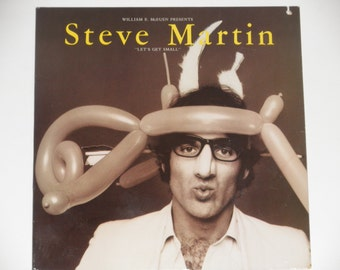 "Steve Martin - Let's Get Small - ""Funny Comedy Gags"" - ""Mad at My Mother"" - Warner Brothers 1977 - Vintage Gatefold Vinyl LP Record Album"