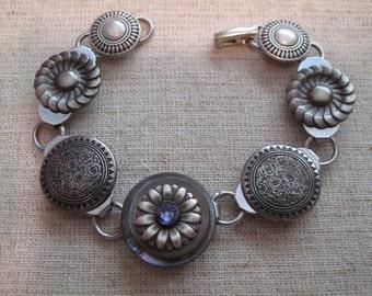 Antique Brass Button Bracelet Garden Design