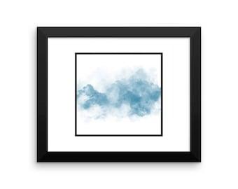 Blue Statement Clouds Frames