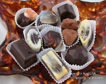 Hand Made Belgian Style Chocolates, with all natural assorted fillings