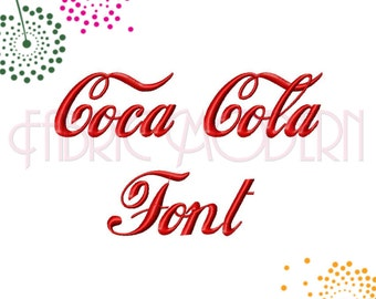 COLA FONT  Spencerian script  Embroidery Design  embroidery fonts 1  1.5 and 2 inch  upper and lower case and numbers for each  #559s