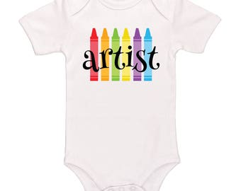 Artist Bodysuit - Cute Baby Clothing For Baby Boys And Baby Girls, Adorable One-Piece Outfit