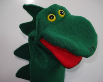 Dinosaur hand puppet with moveable mouth