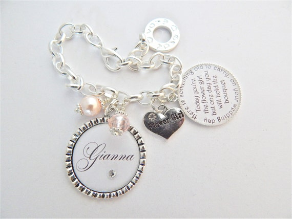 FLOWER GIRL Bracelet Children Jewelry Personalized Wedding