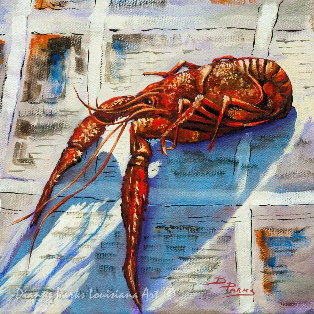 Crawfish Painting Louisiana Crawfish Louisiana Seafoood New