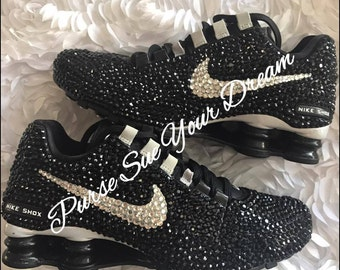 Swarovski Crystal Designed Nike Shox - Swarovski Nike's - Custom Designed Rhinestone Nike's - Bling Nike's - Embellished Nike Shox