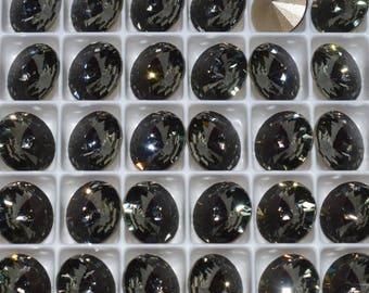 6 pieces 1122 Silver Night 14mm Swarovski Crystal Rivolis