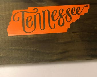 Wooden Tennesssee sign