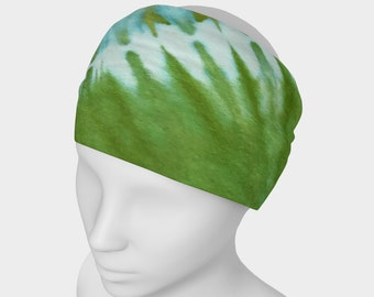 Tie Dye Headband - Hair Accessory - Scarf - Face Warmer - Versatile Accessory - Bandana - Rainbow - Green Teal Gold
