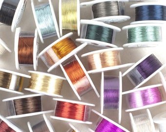 Craft Wire-  28 Gauge wire- Wire Crochet wire- Pick Your Color- Extra long wire 360 feet- Non tarnish jewelry wire- Summer DIY