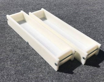 Lot of 2 HDPE Soap Loaf Making Mold 5 - 6 lb per mold CP mp HP Oven Safe