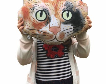 Calico cat, Kitten, Kali, stuffed pillow, plush toy, nursery, collection, illustration, modern