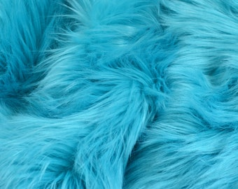Turquoise Faux Fur Craft Squares, Turquoise Fur Fabric, Turquoise Faux Fur Fabric, Turquoise Fur, Light Blue Fur, Fake Fur, Turquoise Fur