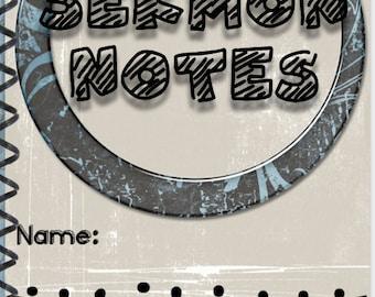 Teen Sermon Note Taking Book, Tween Sermon Notes, Teenage Sermon Notes, Sermon Journal, Church