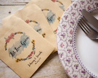 10 XRustic wedding seed packets wedding favours wedding favour seeds wedding stationary woodland wedding favours woodland wedding packet