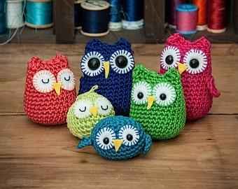 Rainbow owls amigurumi PDF crochet patterns