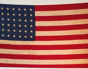 WWII Era 48 Star American Flag