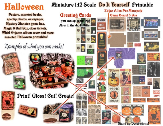 112 scale dollhouse miniature digital download diy printable solutioingenieria Gallery