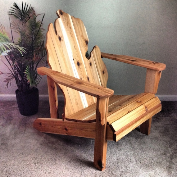 handmade adirondack chairs michigan adirondack chair handmade wood furniture rustic patio 2885