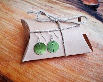 Earrings/Pendant green leaves