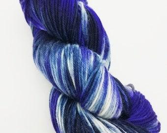 Superwash 4ply wool/nylon, sock yarn, Hand Dyed, 100g