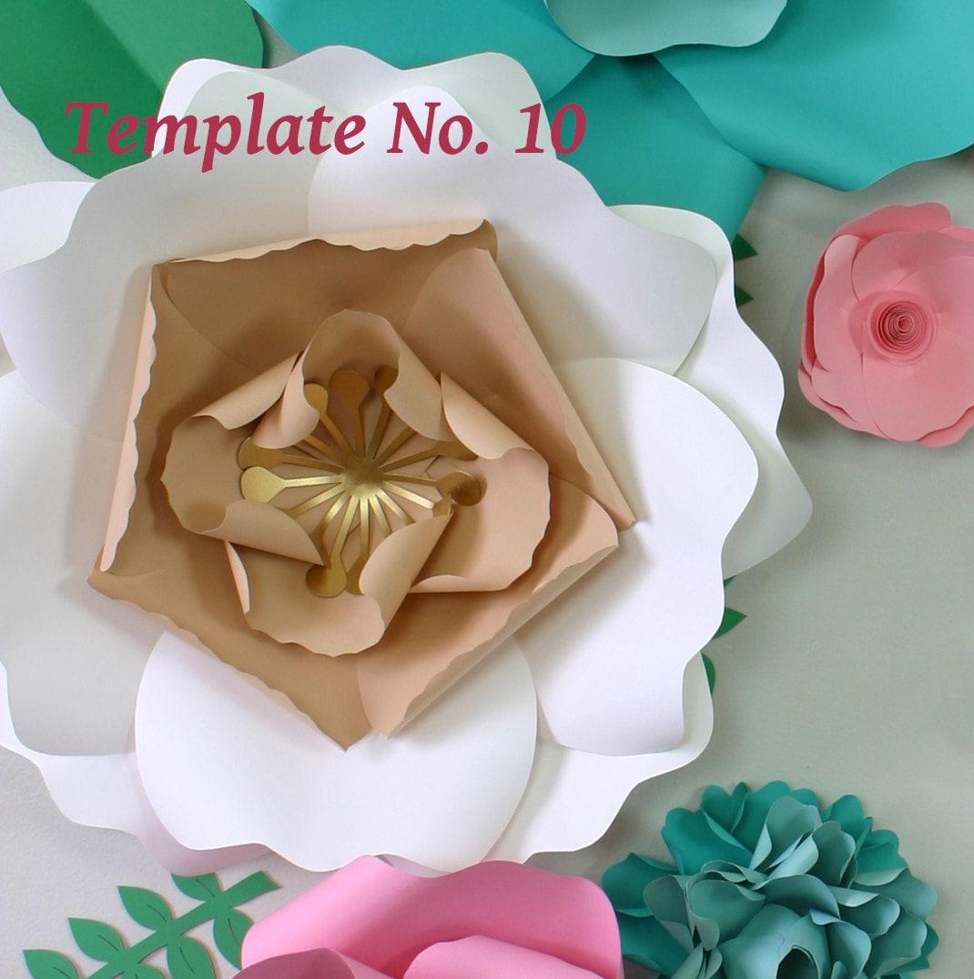 Paper flower template instant download pdf paper flower pdf paper flower template instant download pdf paper flower pdf diy floral wedding dcor junglespirit Images