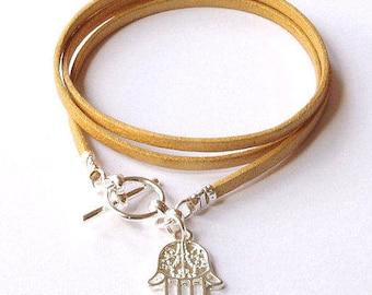 Hamsa hand bracelet,hamsa bracelet, hamsa hand, hamsa jewelry, hand of fatima, friendship bracelet, stacking bracelet, boho wrap bracelet,
