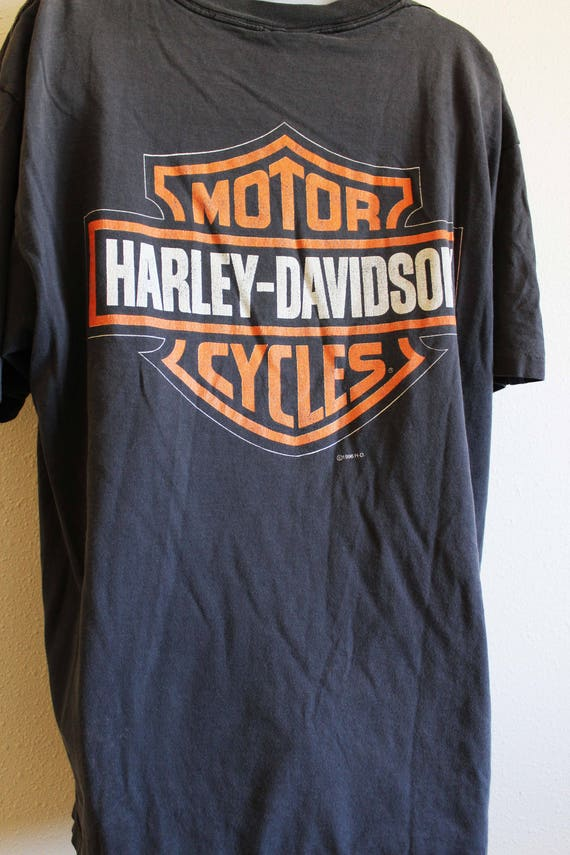 worn T Davidson motorcycle Eagle shirt XL official Rules shirt faded Harley Black logo vintage RSg4qCCwc