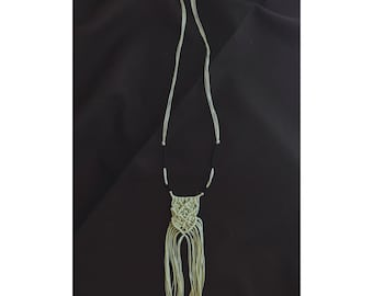 Hand made macrame necklace
