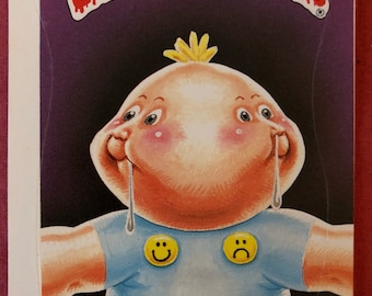 Vintage Garbage Pail Kids Topps card Dotty Dribble