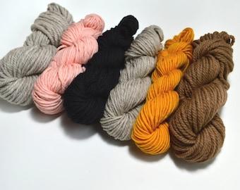 Neutral Yarn Pack, Weaving yarn pack, Knitting Yarn Pack, Yarn Combo, Neutral Yarn,