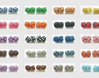 20 Pairs Brand New Silk Knot Cuff links 20 Colors C1