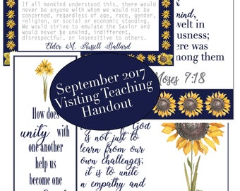 September 2017 Visiting Teaching Message Digital Printable