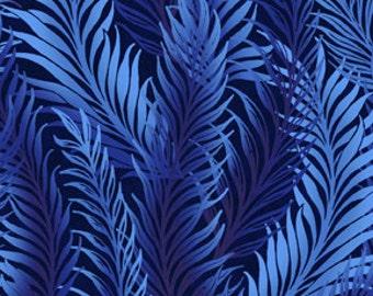 Feather Blue Dreamweaver Blender Jason Yenter Fabric 1 yard