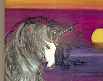 Unicorn Purple Sunset (sublimation tile)