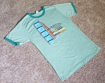 Vintage 1970s Puerto Rico Surfing T Shirt