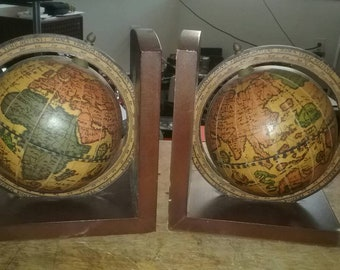 Vintage wooden Italian made bookends.