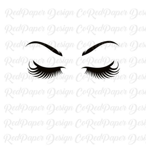 svg eyelashes eyebrows bundle cut file modern anastasia