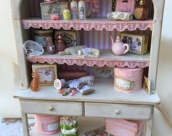 Miniature vintage  shelf unit