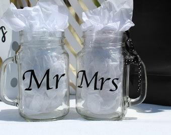Mr & Mrs Jar Glassware Set