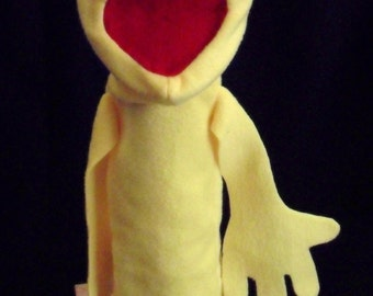Hand puppet Blank (YELLOW/FILLED ARMS)