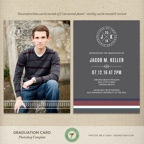 Senior Graduation Card Template Graduation Announcement Open
