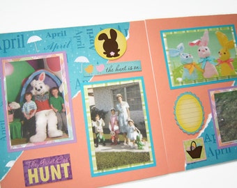 Easter Scrapbook Pages - Easter Layout - Easter Pages - Easter Premade Scrapbook Pages - Easter Scrapbook Layouts - Easter Scrapbooking