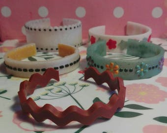 Cute resin bracelet
