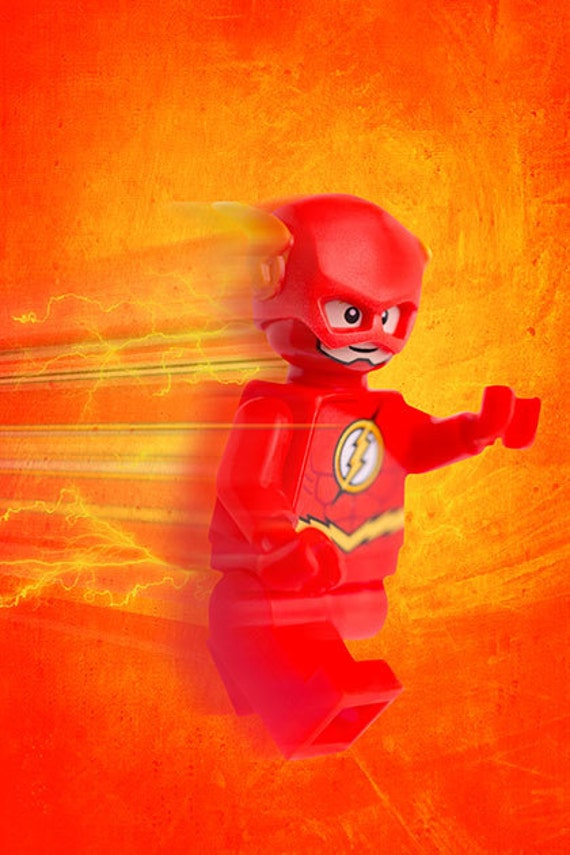 Lego The Flash Poster / Wall Art. Custom Made Kids Room Decor