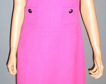 Vintage 90s, Anne Klein, pink, sleeveless dress, size 6, MINT
