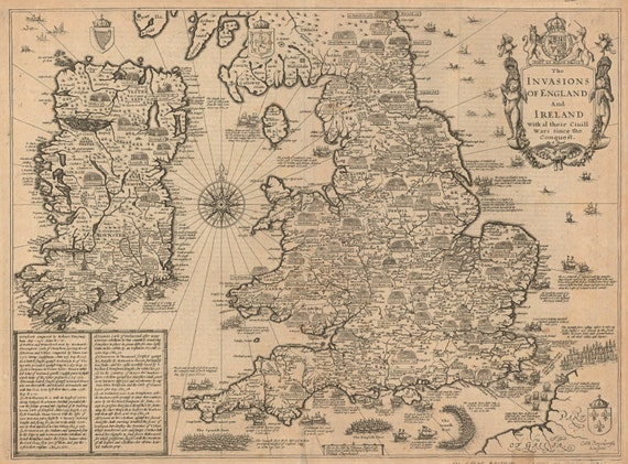 England and ireland old world map antique world map maps gumiabroncs Choice Image