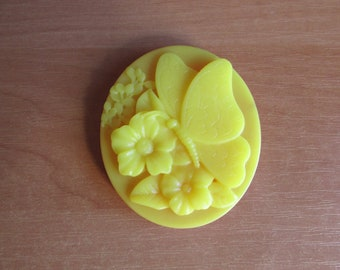 grapefruit soap handmade glycerin soap butterfly soap hand soap yellow butterlfy soap with design grapefruit scent hand wash aroma therapy