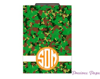 Personalized clipboard camo clipboard back to school supplies boys camo clipboard